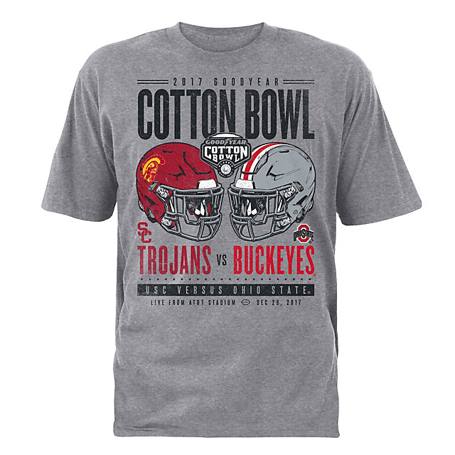 2017 Goodyear Cotton Bowl USC vs Ohio State Mens Matchup Short Sleeve Tee
