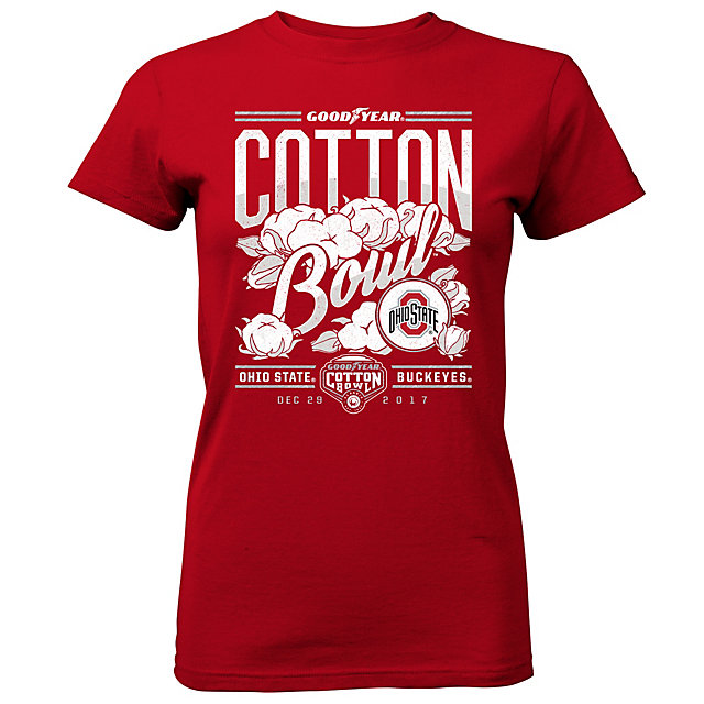 2017 Goodyear Cotton Bowl Ohio State Ladies Participant Short Sleeve Tee