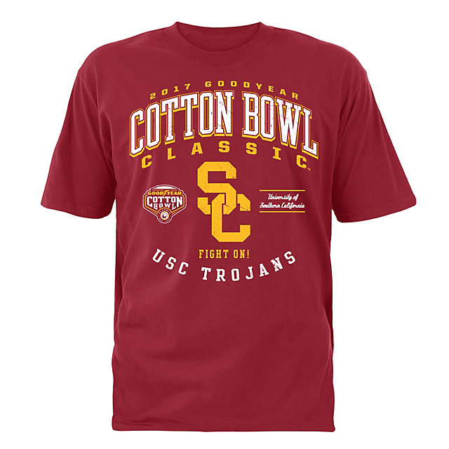 2017 Goodyear Cotton Bowl USC Mens Participant Short Sleeve Tee