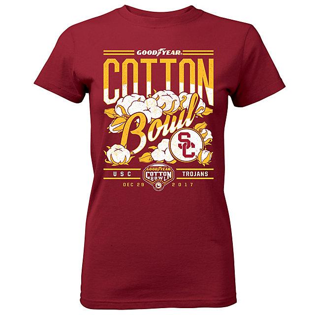 2017 Goodyear Cotton Bowl USC Ladies Participant Short Sleeve Tee
