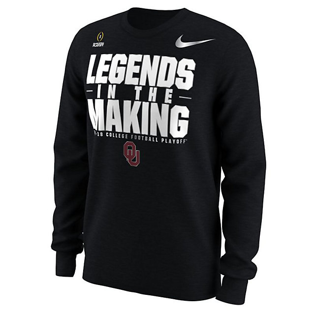 9b976a64b8b0 Oklahoma Sooners Nike 2018 College Football Playoff Bound Illusion Long  Sleeve Tee
