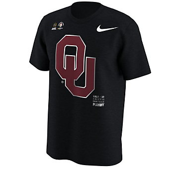 Oklahoma Sooners Nike 2017 College Football Playoff Bound Logo Short Sleeve Tee