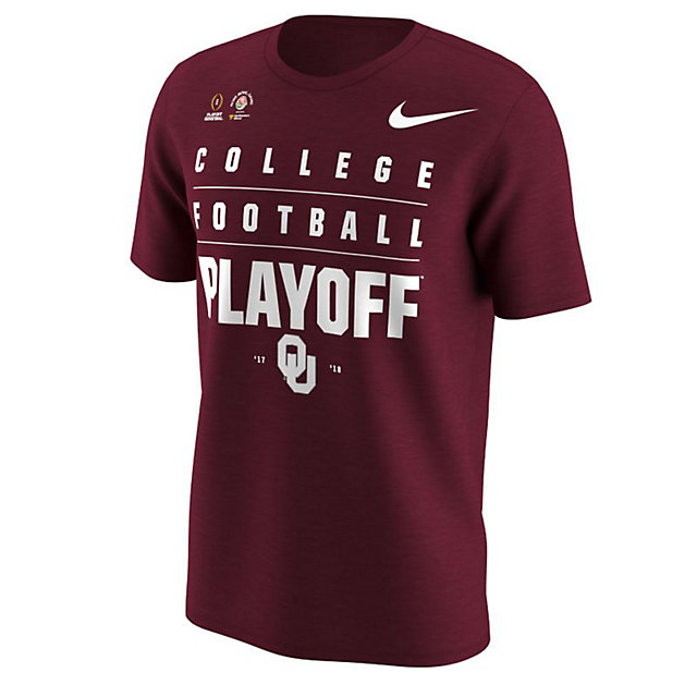 Oklahoma Sooners Nike 2018 College Football Playoff Bound Verbiage Short Sleeve Tee