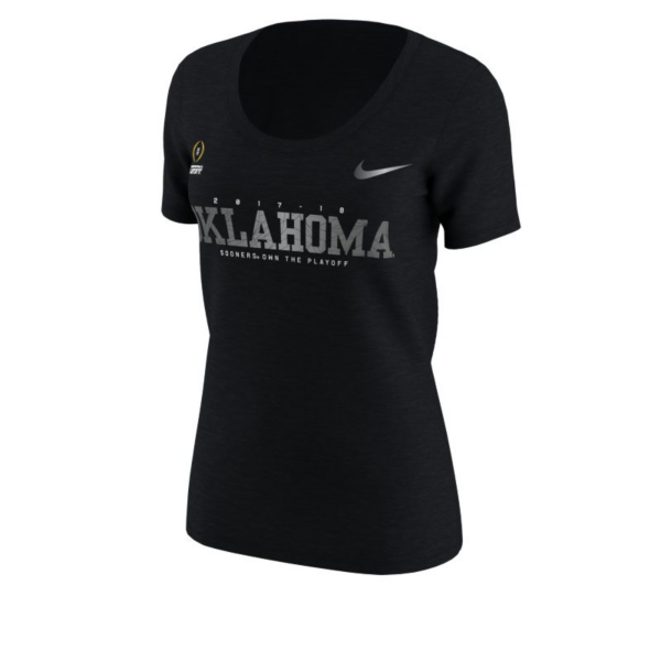 Oklahoma Sooners Nike 2017 College Football Playoff Bound Womens New Day Short Sleeve Tee