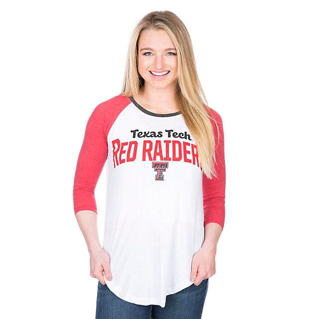 Texas Tech Red Raiders Pressbox Quin Raglan Tee