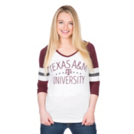Texas A&M Aggies Pressbox Pomona Raglan Tee