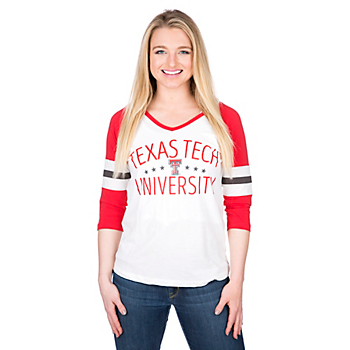Texas Tech Red Raiders Pressbox Pomona Raglan Tee