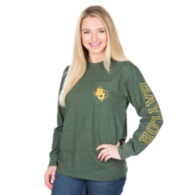 Baylor Bears Pressbox Mystic Crew Pocket Tee