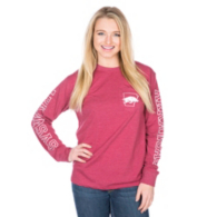 Arkansas Razorbacks Pressbox Mystic Crew Pocket Tee