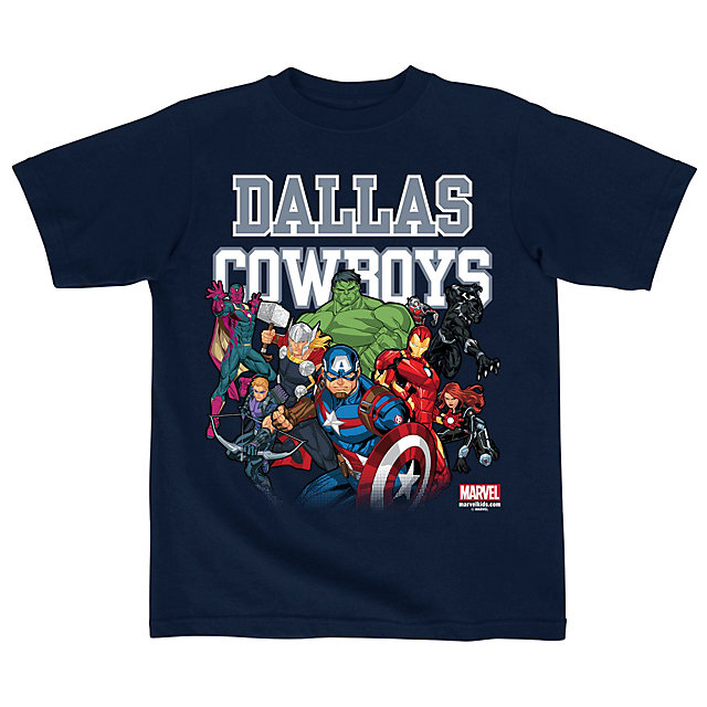 Dallas Cowboys MARVEL Kids Practice Assemble Tee