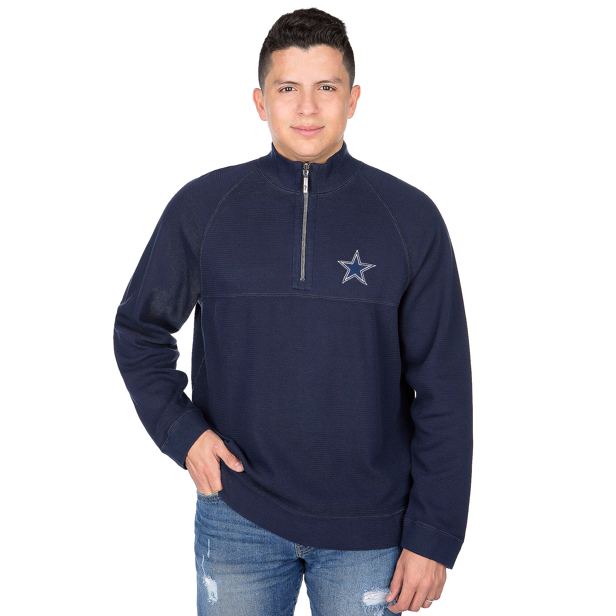 Dallas Cowboys Tommy Bahama Fairway Flip Half-Zip Pullover
