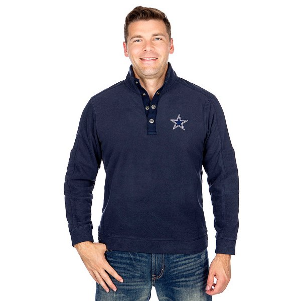 Dallas Cowboys Tommy Bahama Fleecebender Snap Mock Pullover