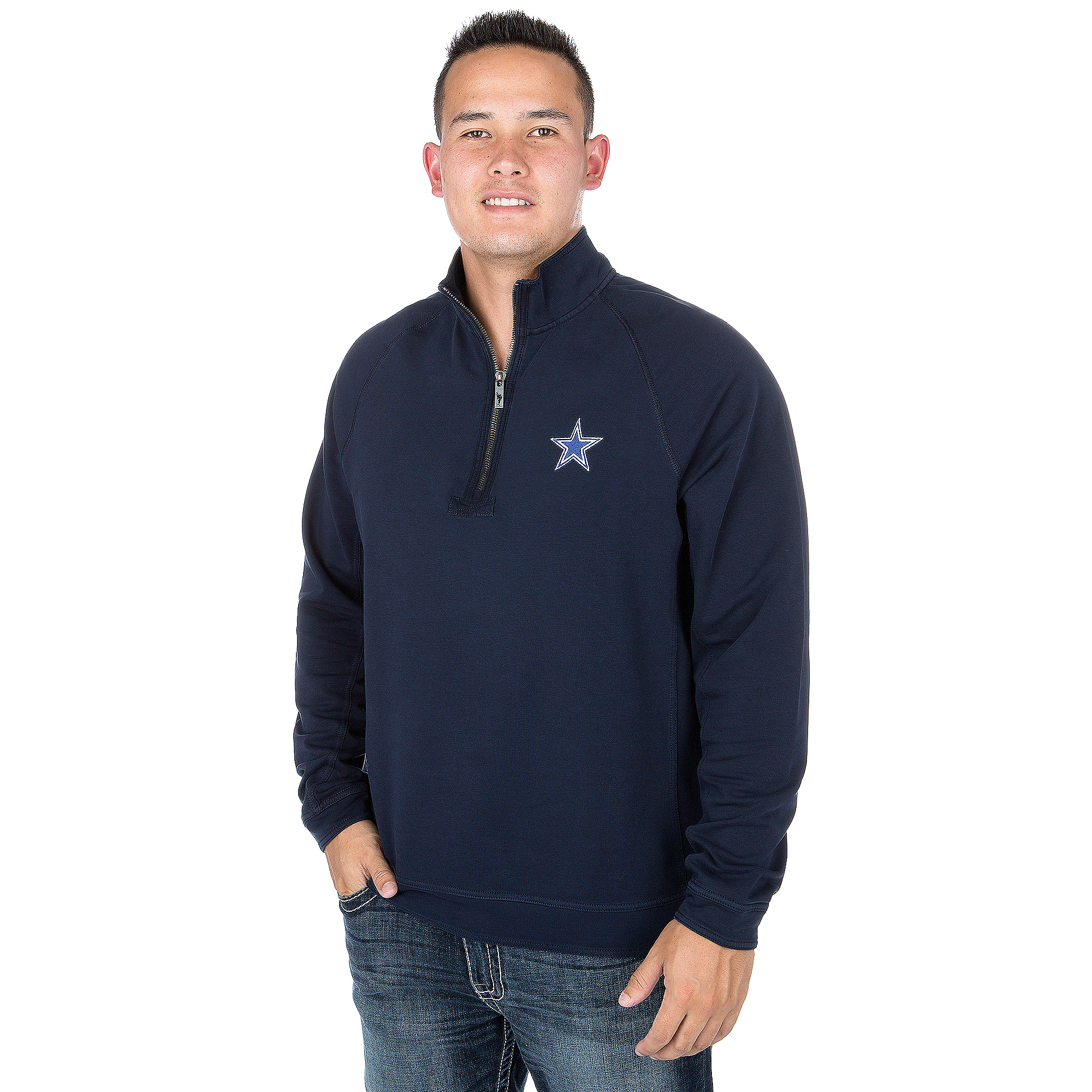 Dallas Cowboys Tommy Bahama Ben & Terry Coast Core Half Zip Pullover