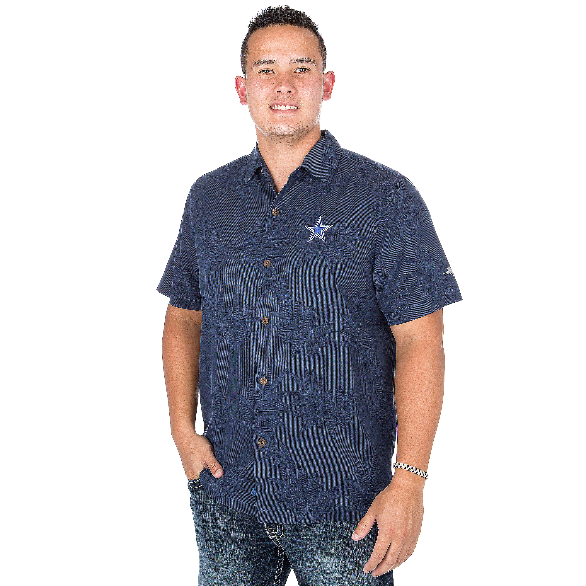 Dallas Cowboys Tommy Bahama Luau Floral Core Camp Tee