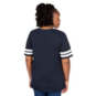 Dallas Cowboys Plus Size Contrast Dual Stripe Glitter Tee