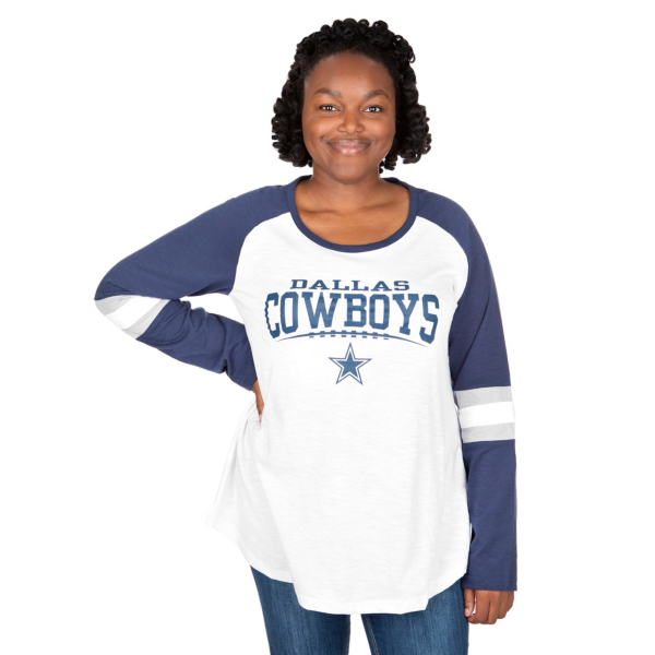 Dallas Cowboys Plus Size Raglan Slub Tee