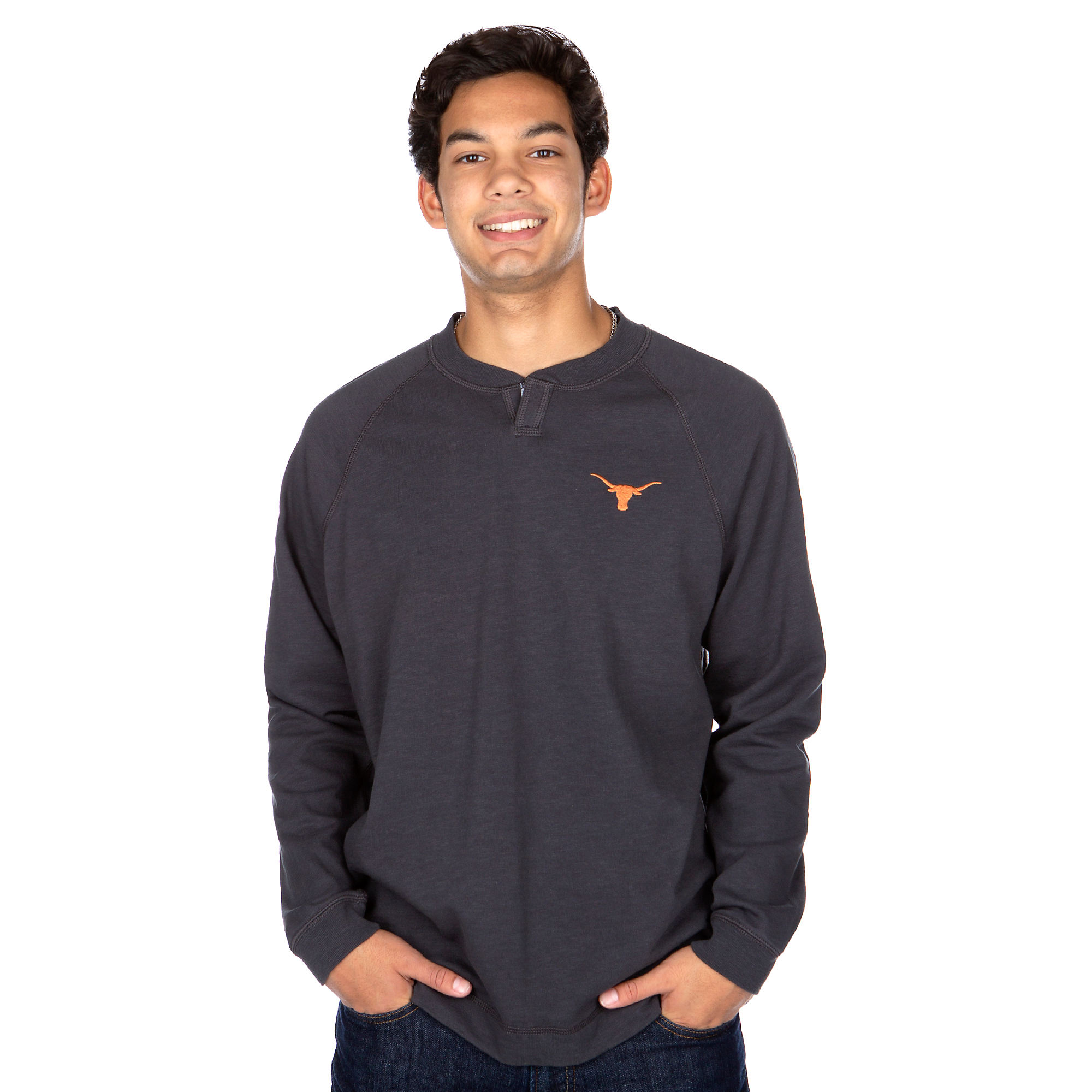 Texas Longhorns Tommy Bahama Sunset Slub Henley T-Shirt
