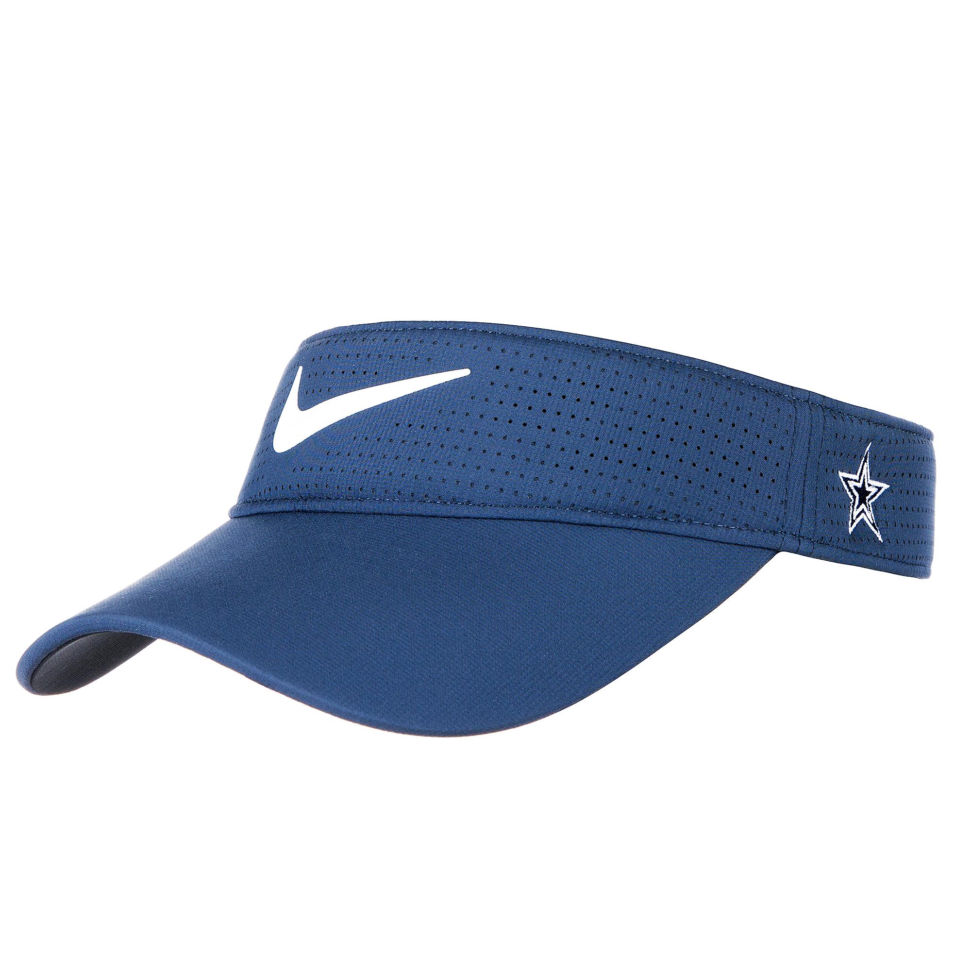 c6b4c65bcae43 ... Dallas Cowboys Womens Nike AeroBill Golf Visor ...