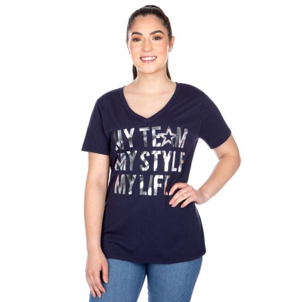 Dallas Cowboys Womens Naya Short Sleeve T-Shirt
