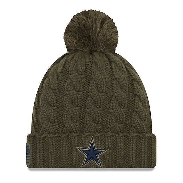 a778a4048 ... good dallas cowboys new era salute to service womens knit hat 4662a  106ad