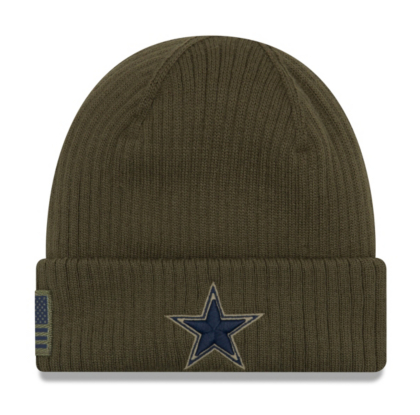 huge discount a0fc9 14227 Dallas Cowboys New Era Salute to Service Youth Knit Hat | Dallas Cowboys  Pro Shop