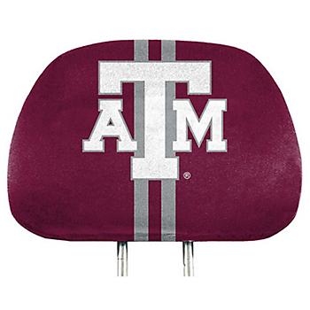 Texas A&M Aggies Printed Headrest Cover Set