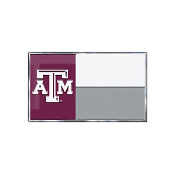 Texas A&M Aggies State Flag Car Emblem