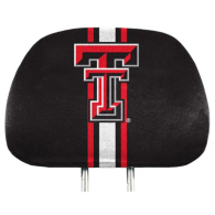 Texas Tech Red Raiders Printed Headrest Cover Set