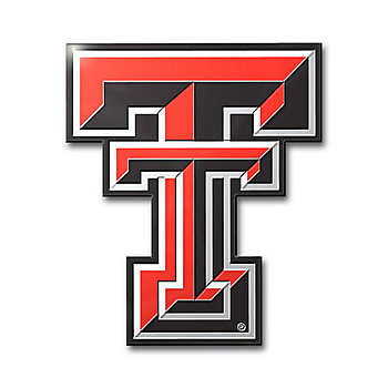 Texas Tech Red Raiders Color Car Emblem