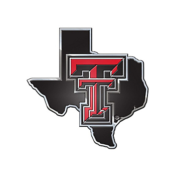 Texas Tech Red Raiders State Car Emblem