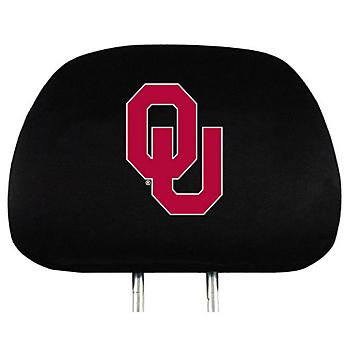 Oklahoma Sooners Headrest Cover Set