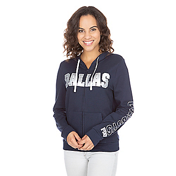 Dallas Cowboys PINK Perfect Full-Zip Hoodie