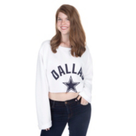 Dallas Cowboys PINK Extreme Crop Campus Crew