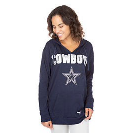 Dallas Cowboys PINK Bling Campus Pullover Hoody