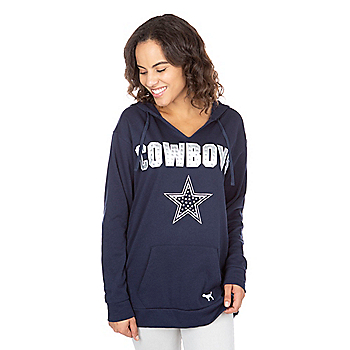 Dallas Cowboys PINK Bling Campus Pullover Hoodie