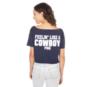 Dallas Cowboys PINK Raw Neck Cut Off Campus Tee