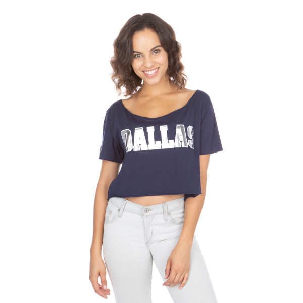 Dallas Cowboys PINK Raw Neck Cut Off Campus Tee