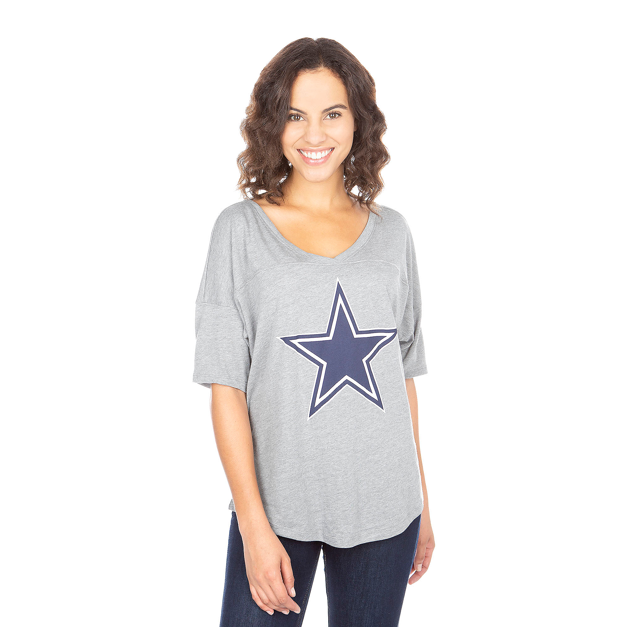 Dallas Cowboys PINK Twist Open Back Tee