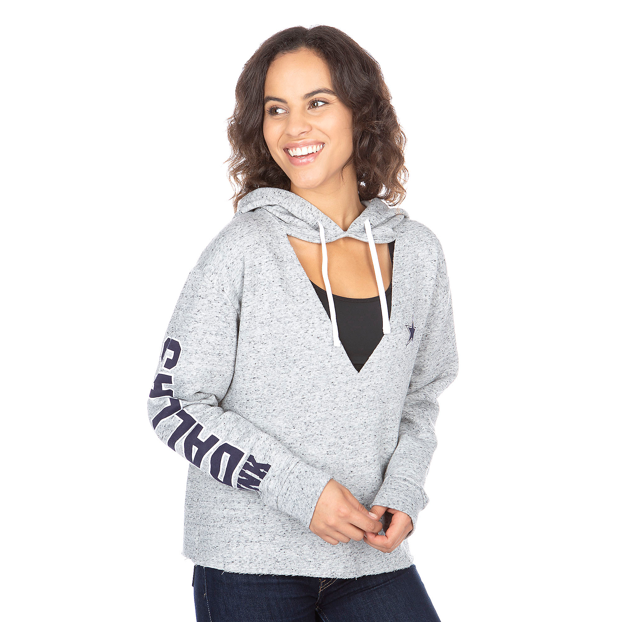 Dallas Cowboys PINK Heather Reverse Hoodie