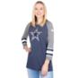 Dallas Cowboys Nike Womens Tri Sleeve Raglan Tee