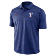 Texas Rangers Nike Striped Polo