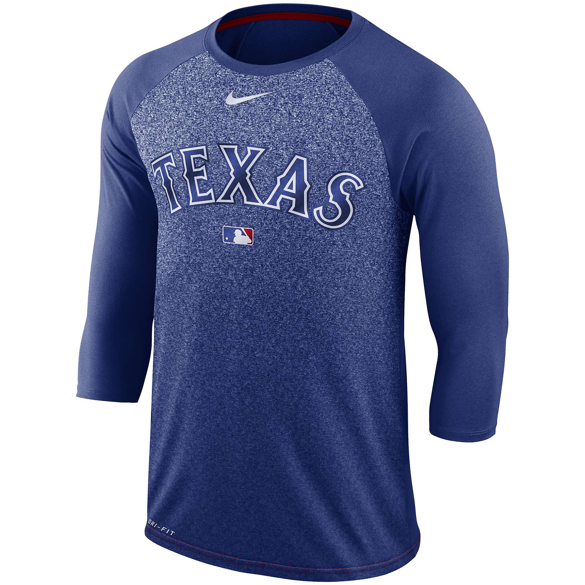 Texas Rangers Nike Legend 3/4 Raglan Tee