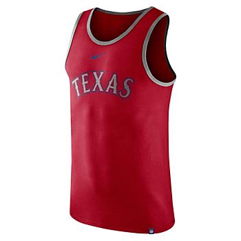 Texas Rangers Nike Cotton Wordmark Tank