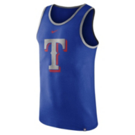 Texas Rangers Nike Cotton Wordmark Logo Tank