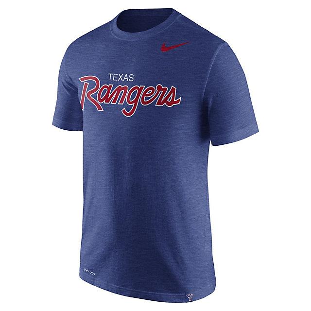 Texas Rangers Nike Script Short Sleeve Tee