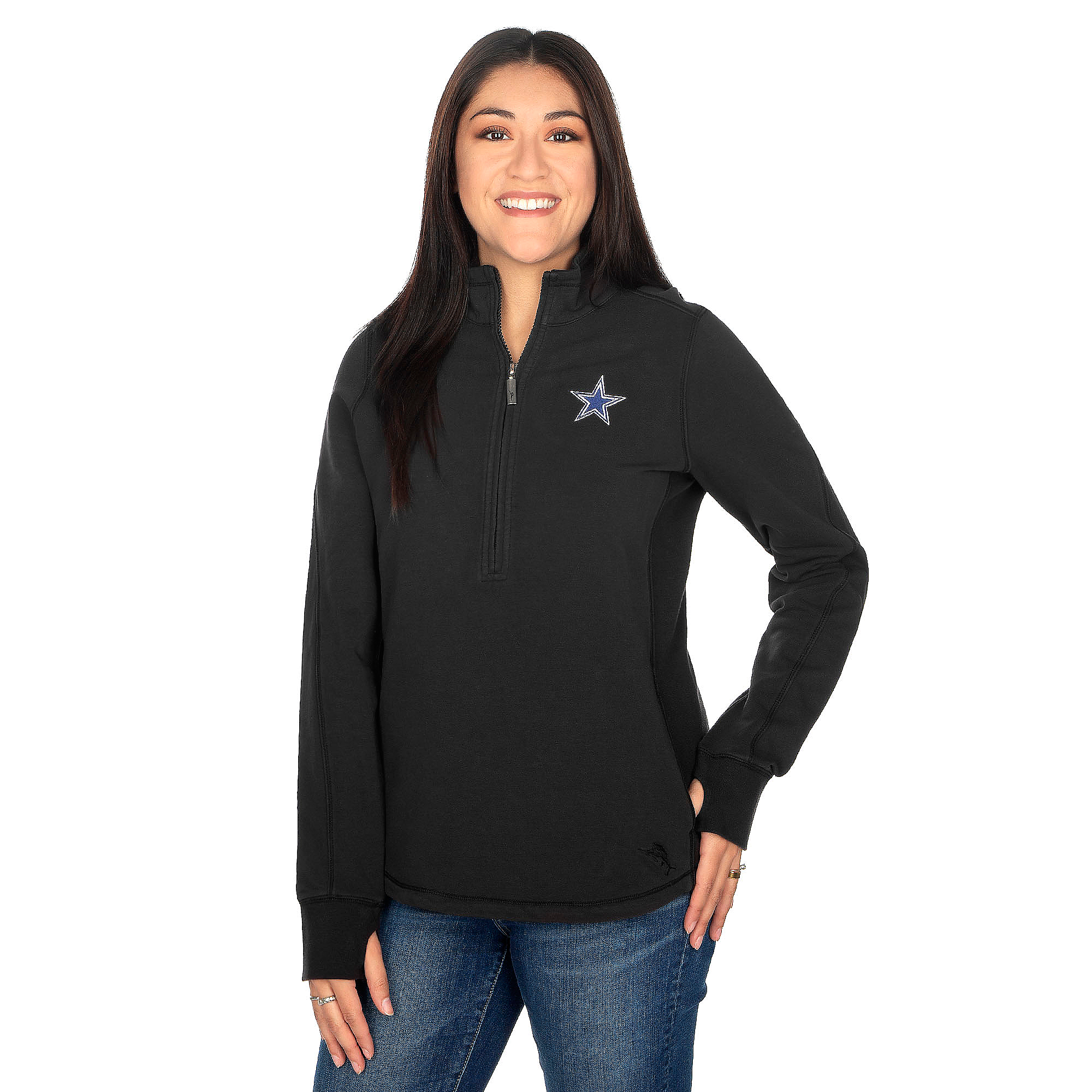 Dallas Cowboys Tommy Bahama Womens Jen & Terry Half Zip Hoody