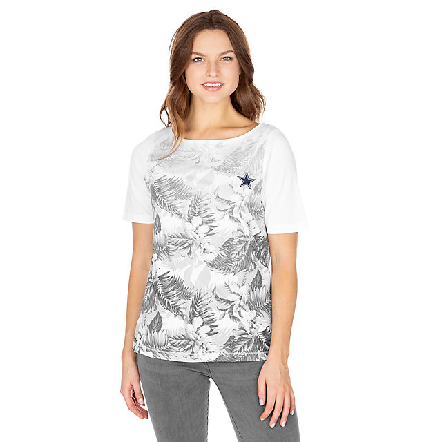 Dallas Cowboys Tommy Bahama Womens Floral Victory Tee