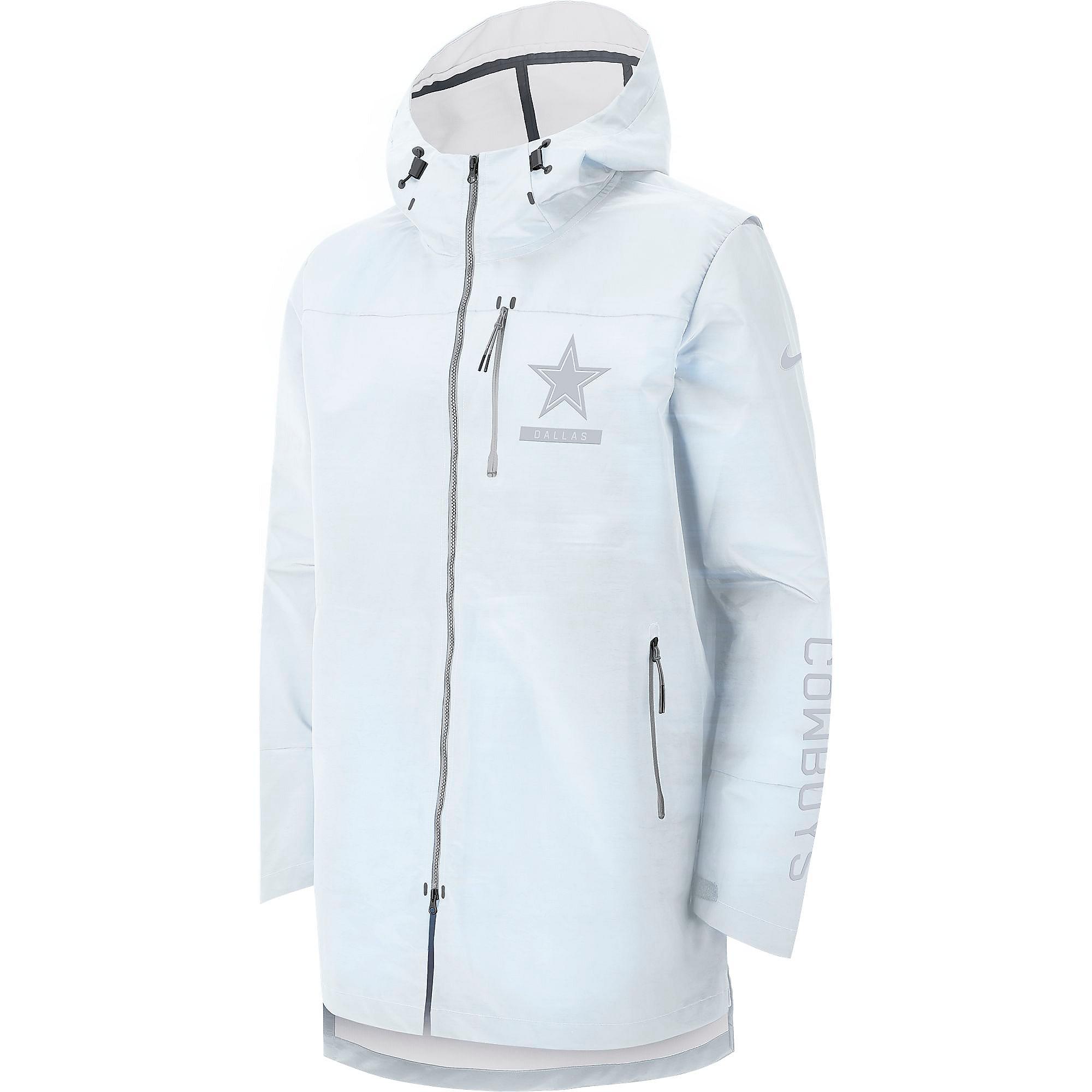 b1ef38a67 Dallas Cowboys Nike Sideline Away Players Cape Jacket