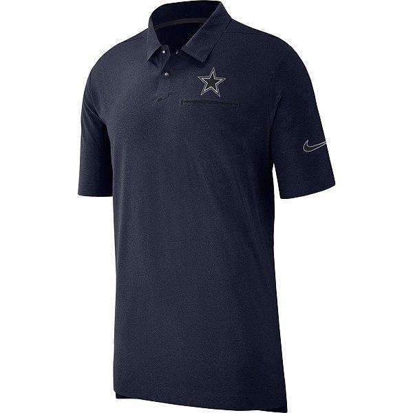 Dallas Cowboys Nike Sideline Away Coaches Polo