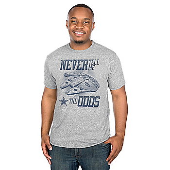 Dallas Cowboys Star Wars Never Tell Me Tee